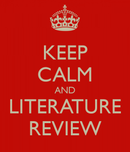 keep-calm-and-literature-review